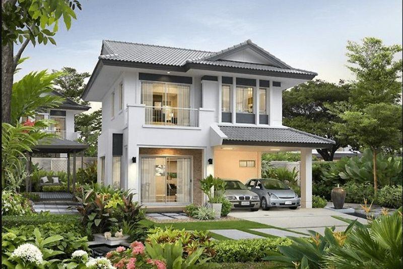 Biệt thự nhà vườn có kiến trúc rất sang trọng, đạt tính thẩm mỹ cao
