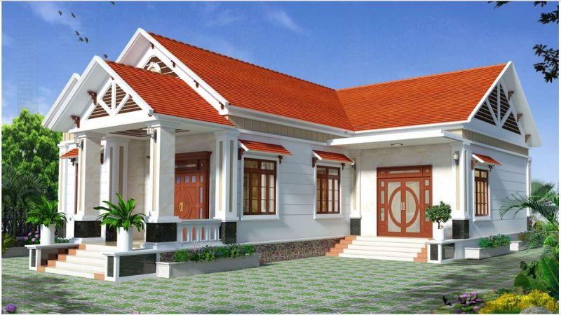 Kiến trúc biệt thự nhà vườn mái chữ L