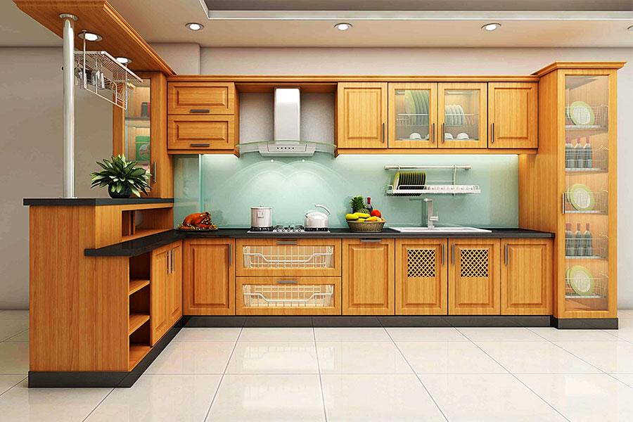 Thiết kế tủ bếp trong gian bếp sao cho phù hợp là điều hết sức quan trọng và cần thiết.